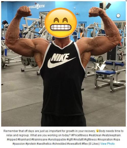 exercise addiction on instagram